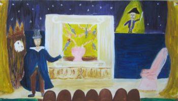 В Московском театре кукол открылась необычная выставка «Мы рисуем театр»