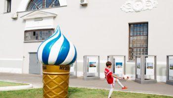 Скульптура Ольги Ломака охладит пыл поклонников футбола в Музее Москвы