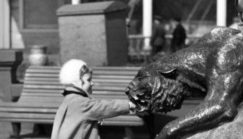 Владимир Степанов. Девочка и пантера. 1958