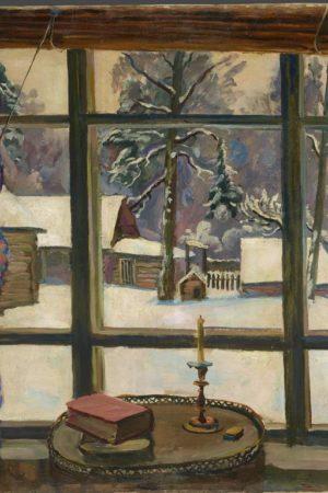 Петр Кончаловский. Окно поэта. 1935 ГТГ