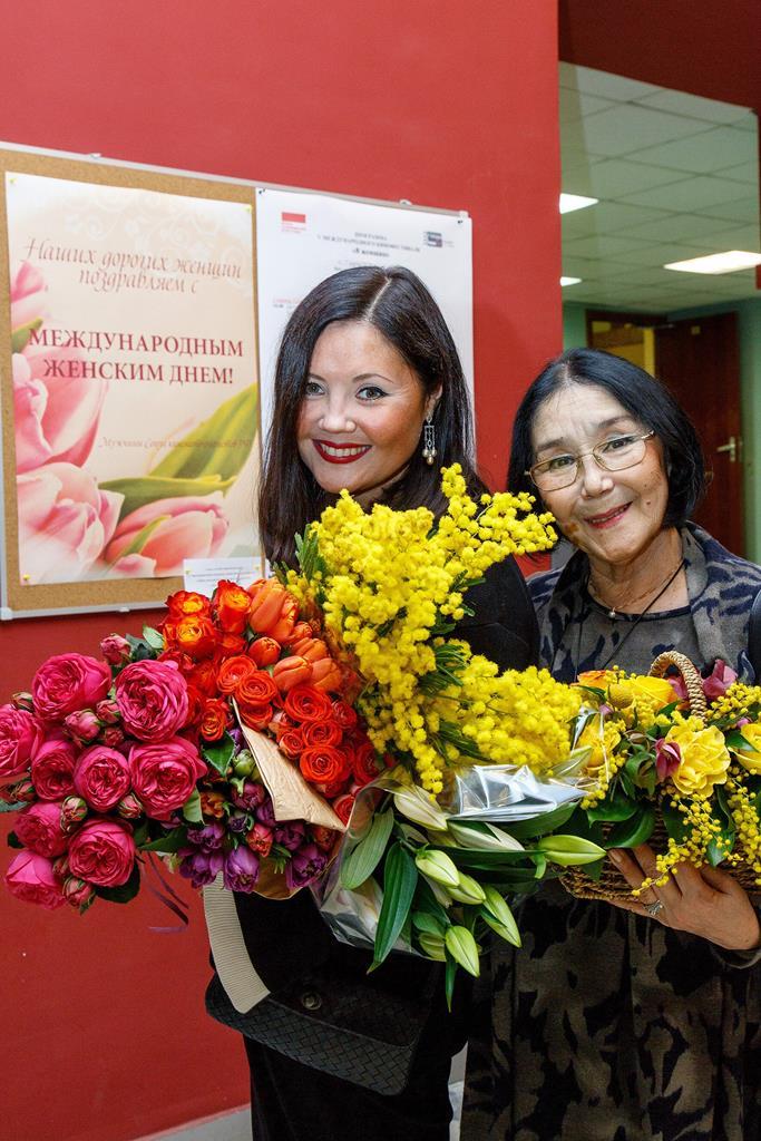 Екатерина Двигубская и Наталья Аринбасарова