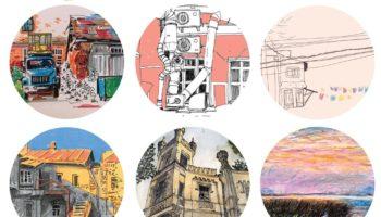 Открытие выставки sketchandscotch