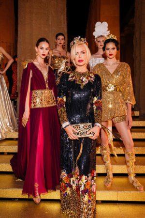 Алиса Лобанова на закрытом показе Dolce & Gabbana Alta Moda