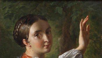 Тропинин В.А. Девушка-украинка, собирающая сливы. 1820-е. Из собрания Музея В.А. Тропинина