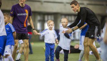 Юные футболисты с синдромом Дауна